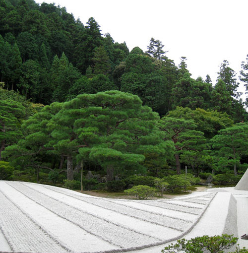 Sand Garden in Kyoto, Japan (Author's collection)