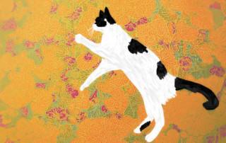 The Dancing Cat: Orange Leaves