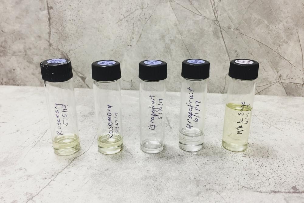 Steam distilled essential oils