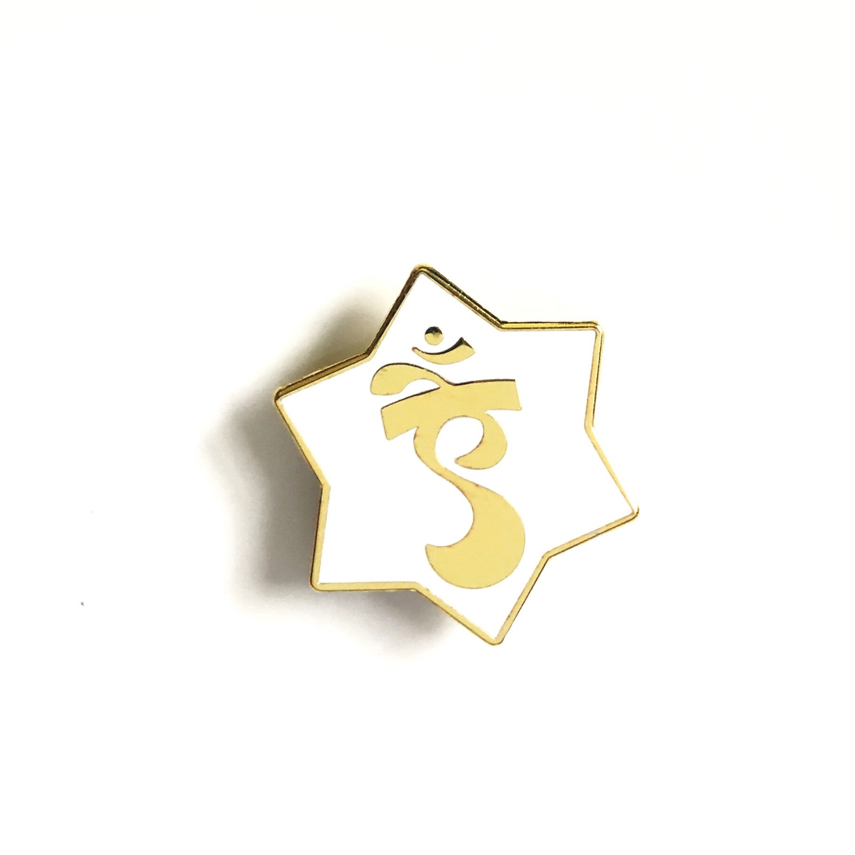 Aim Enamel Pin (close up)