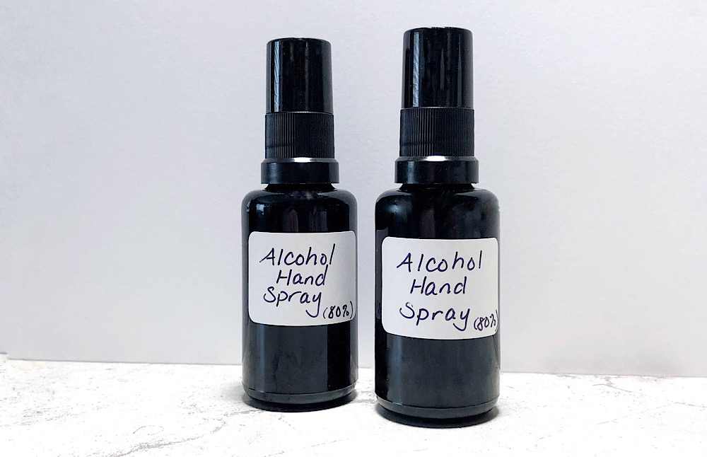 WHO handrub formula adapted for small batches